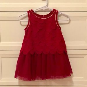 NWOT Cat and Jack Red Infant Holiday Dress